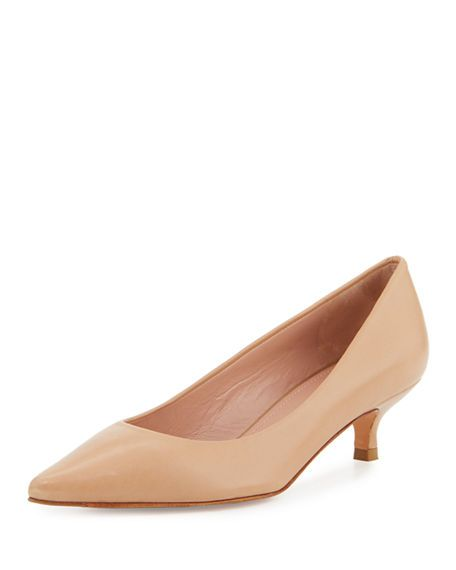 ec516118808 STUART WEITZMAN Poco Leather Kitten-Heel Pump