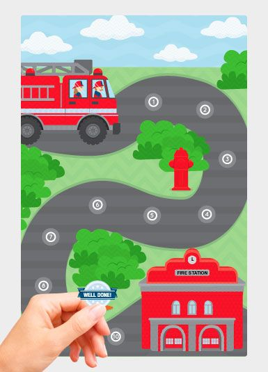 fire truck reward chart