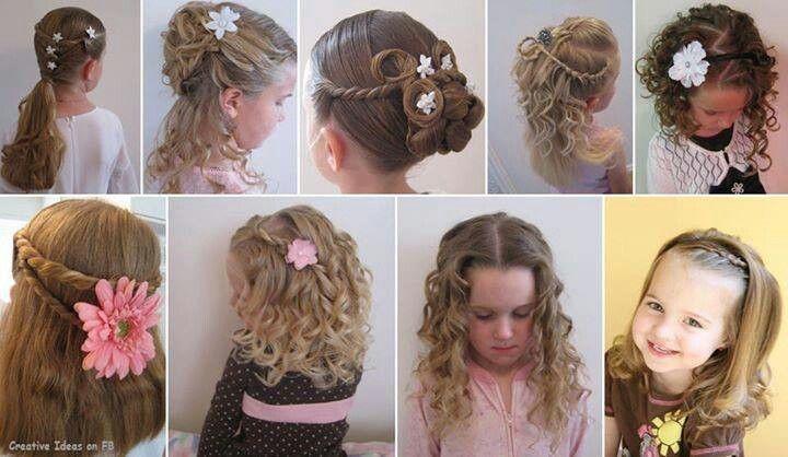 Hermosos Peinados Para Ninas 3 Hair Styles Flower Girl Hairstyles Girl Hairstyles
