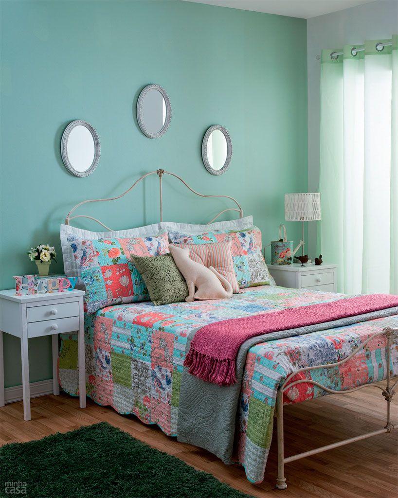 Um quarto de casal e quatro decora es quarto de casal - Programa para pintar paredes ...