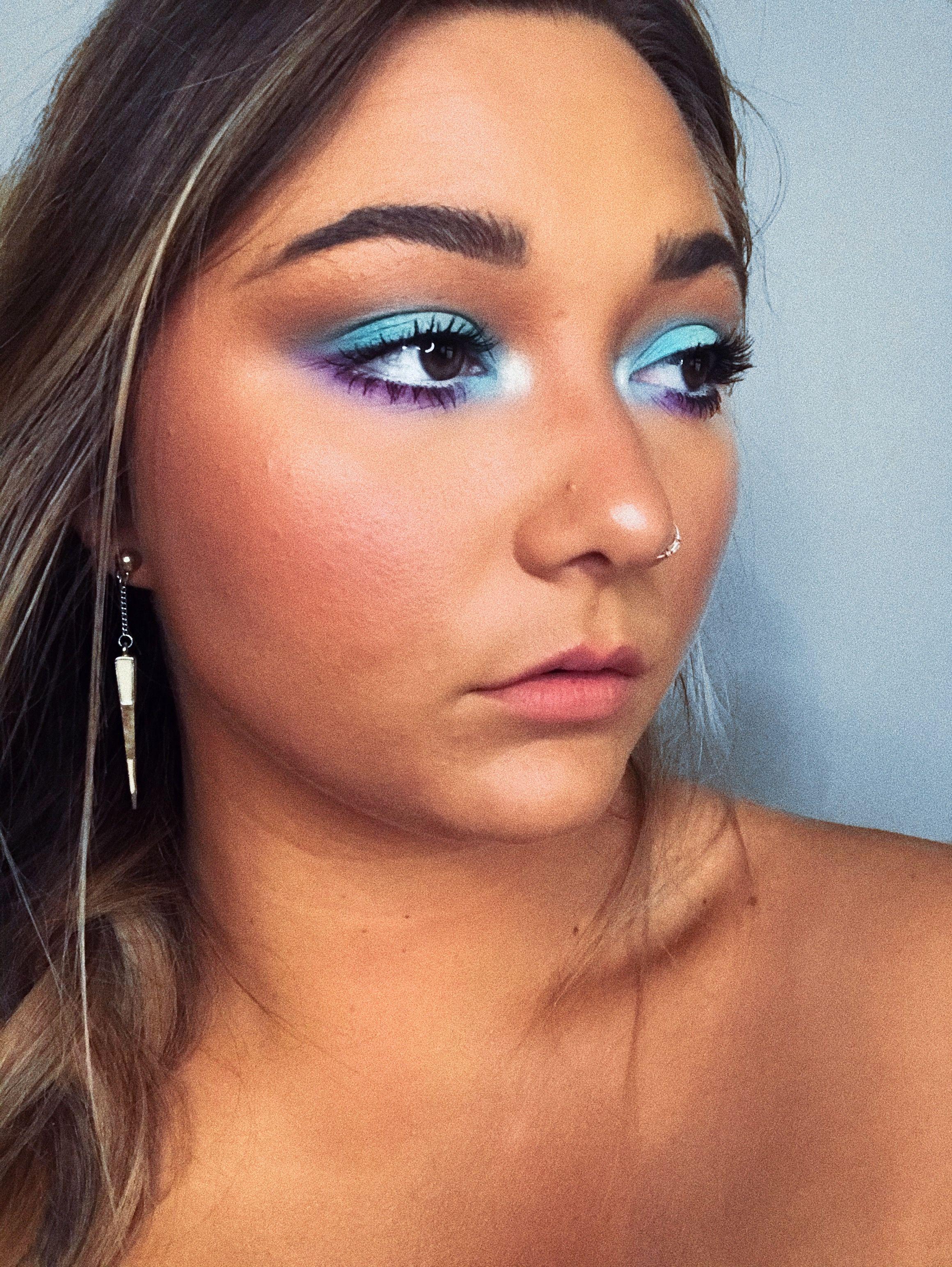 Up close + personal eye makeup in 2020 Purple eye makeup