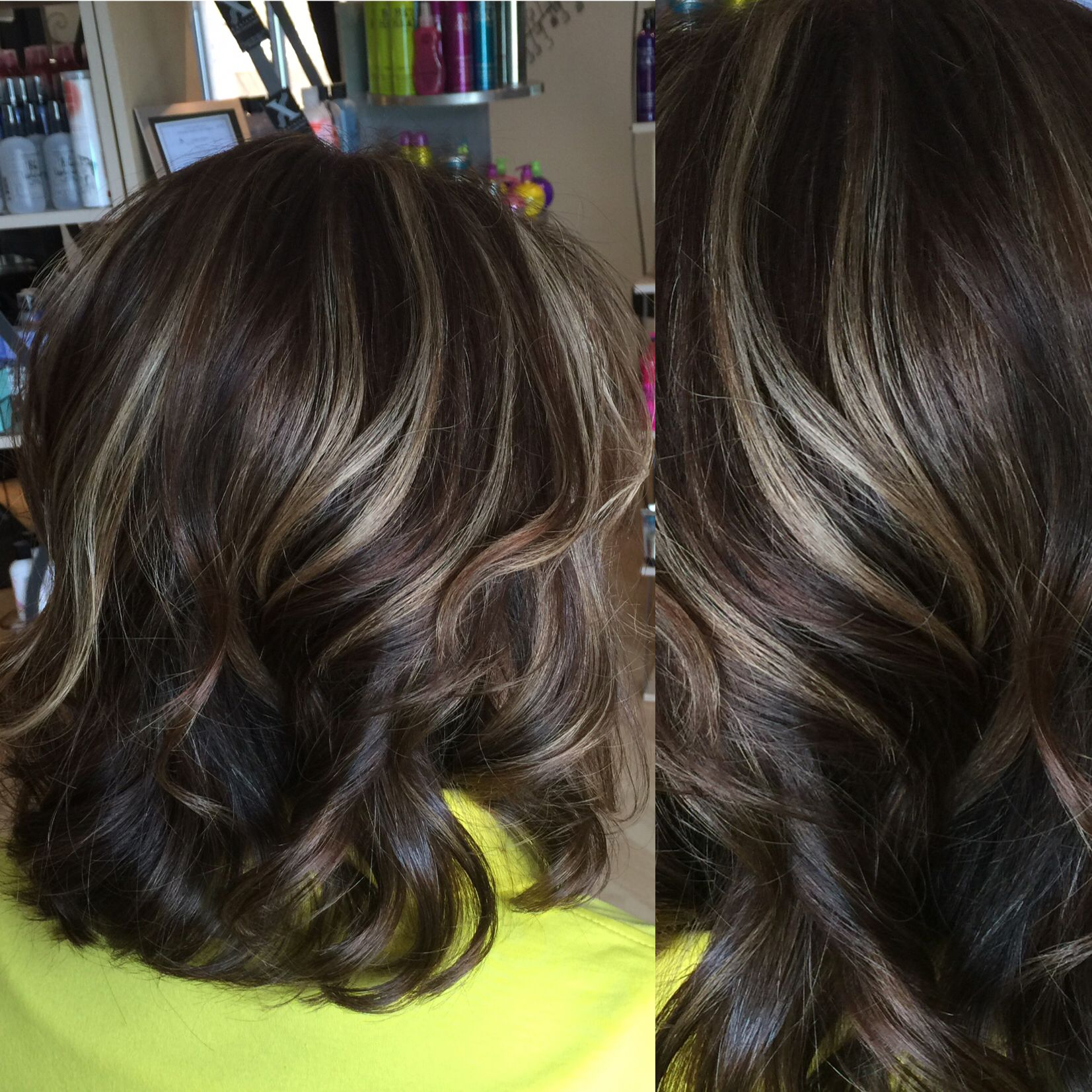 Light Beige Color For Living Room: Medium Brown Hair Color With Light Beige Highlights On The
