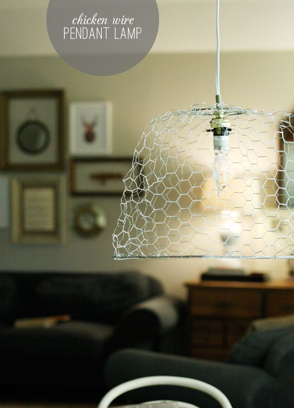 Diy chicken wire pendant lamp wire pendant chicken wire and diy chicken wire pendant lamp greentooth Images