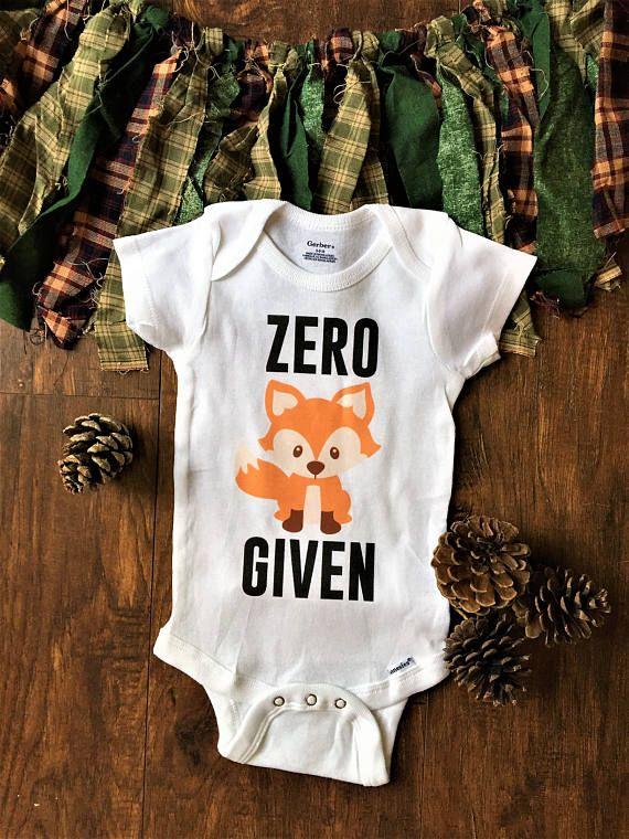 a3644f23a zero fox given onesie, zero fox given baby, fox baby clothes, camping baby  clothes, funny baby onesi