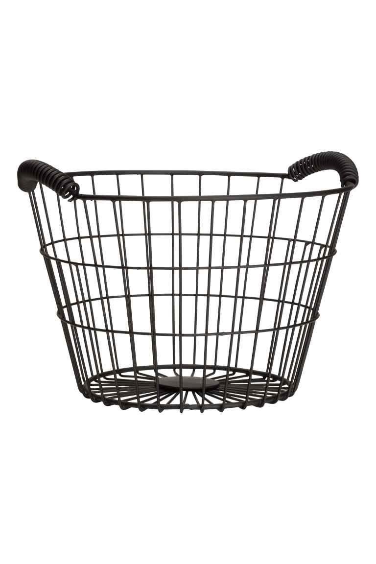 Mały kosz druciany   Wire basket, Kitchenware and Kids rooms