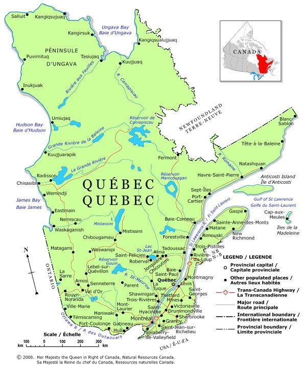QUEBEC PROVINCE of Canada NEXT PROVINCE IS NUNAVUT | Geography ... on
