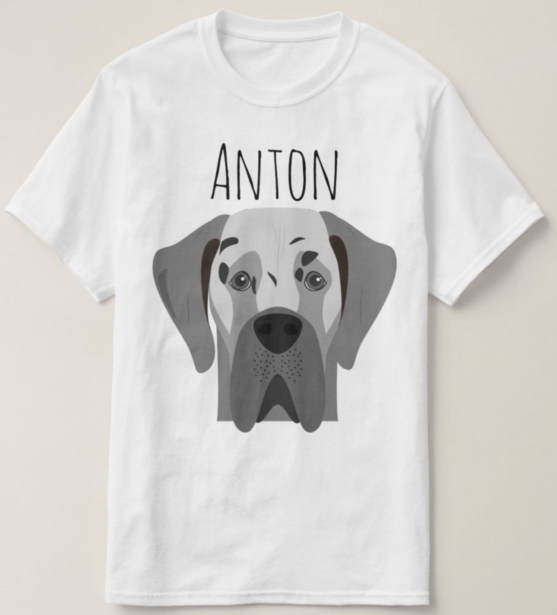 Great Dane Dog Portrait T Shirt Zazzle Com Great Dane Dogs