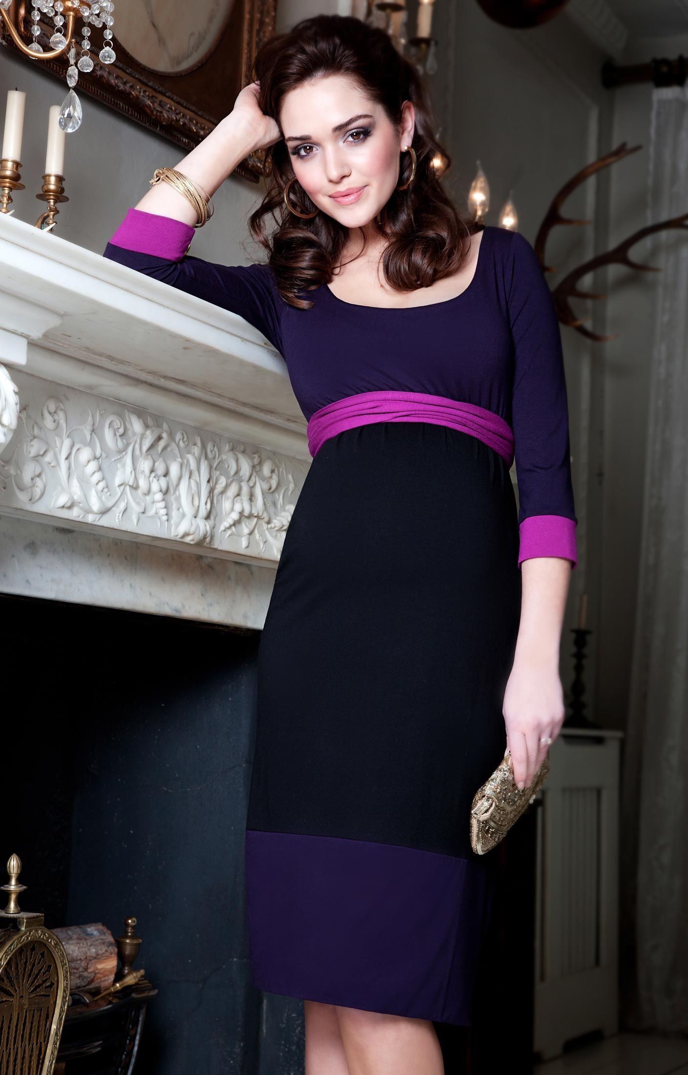 Colour-Block Kleid | Tiffany rose and Tiffany
