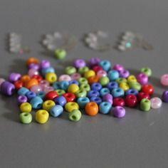 25 perles rocailles mix couleurs -  4 -5   mm -  bijoux