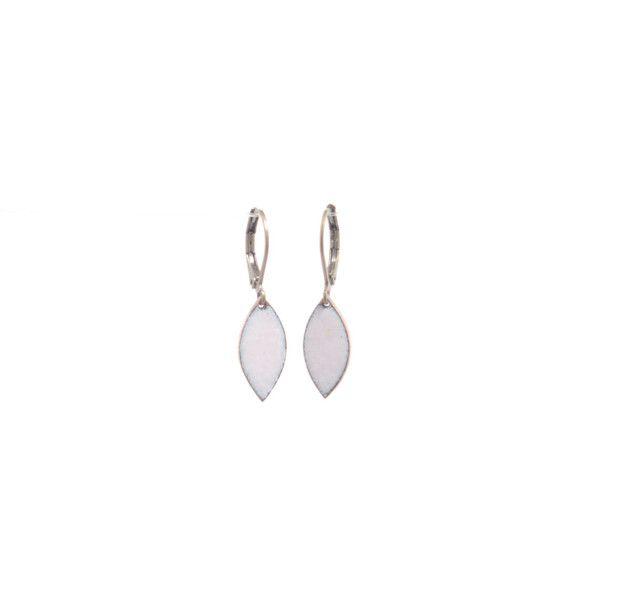 Ohrringe Emaille Kupfer rosa navette | Kupfer, Rosa und ...