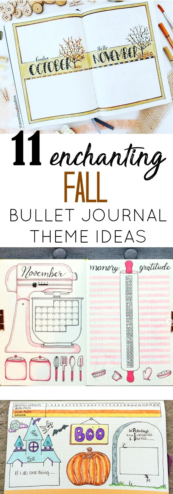 11 Enchanting Fall Bullet Journal Themes #bulletjournaloctobre