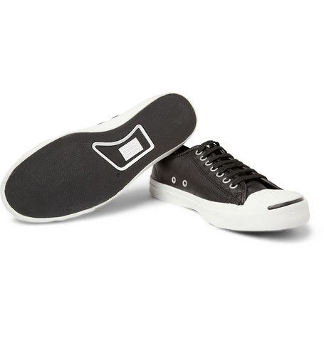 Jack Purcell Leather Converse in Black $70