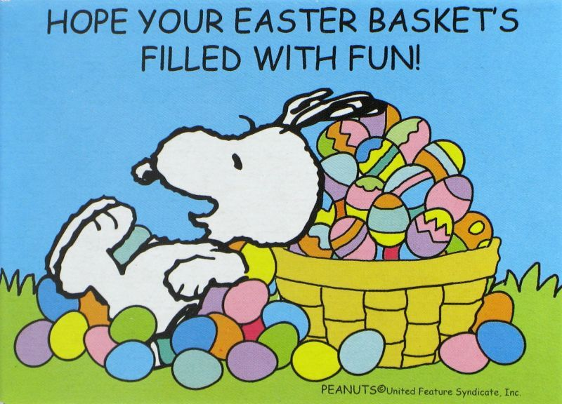 Easter Snoopy Background