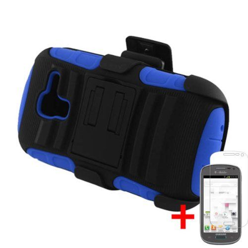 Black Friday SAMSUNG GALAXY EXHIBIT T599 BLACK BLUE HYBRID ARMOR KICKSTAND COVER BELT CLIP HOLSTER CASE   SCREEN PROTECTOR from [ACCESSORY ARENA] from Eagle Cell