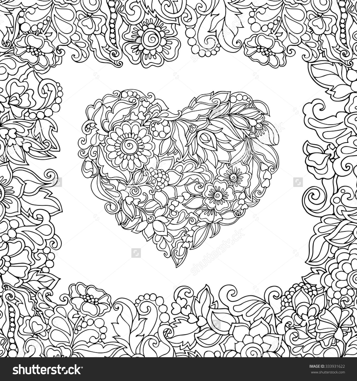 Coloring Book For Adult And Older Children Page With