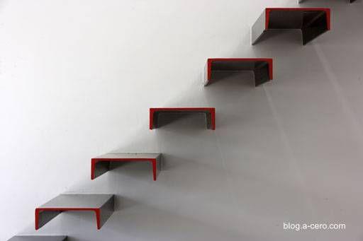 Escalera minimalista Architecture Pinterest Escaleras