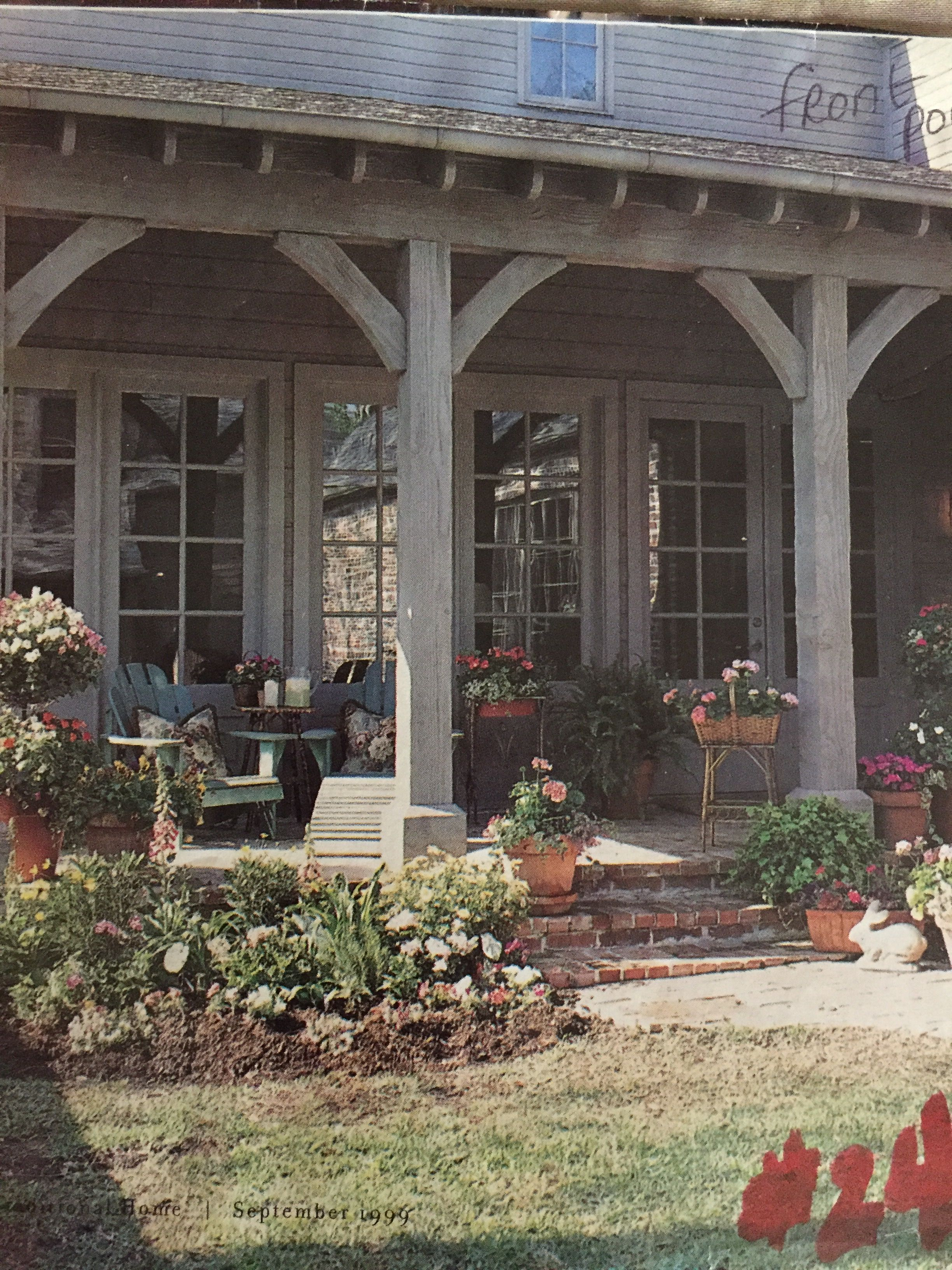 Front Exterior Porch Kitchen Window Area Corbels And Posts