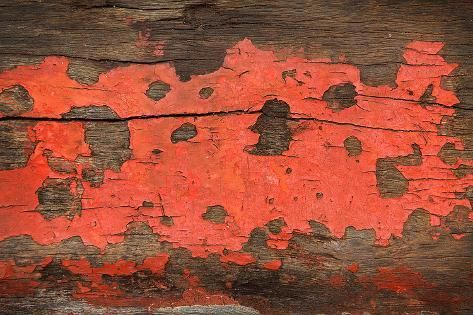 Red Grunge Wood Texture Background Old Panel Photographic Print by dedukh | Art.com #woodtexturebackground