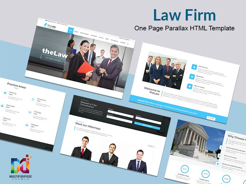 Responsive Website Template Law Firm One Page Responsive Website Template Law Firm Website Template Social media web templates
