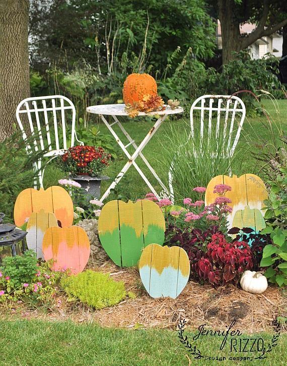 Decoart Blog Crafts Gold Frosted Wood Pallet Pumpkin Patch Halloween Feiertag Deko