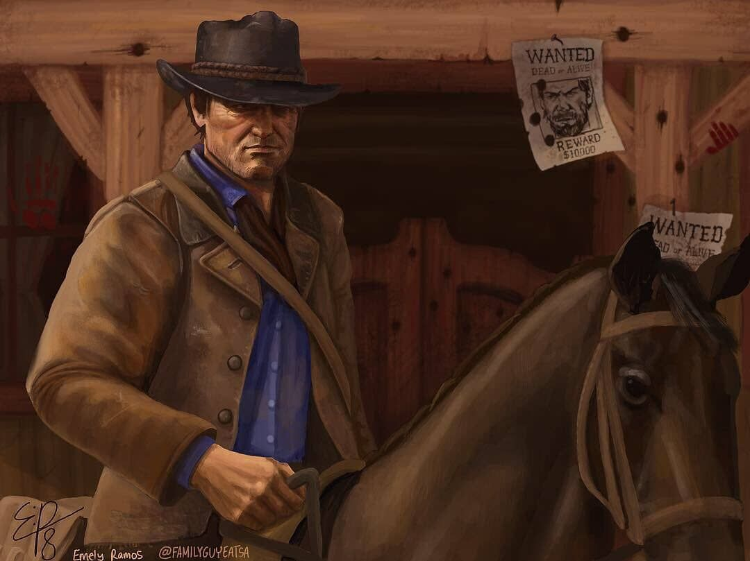 A beautiful Fan-Art of Arthur Morgan by Emely Ramos on