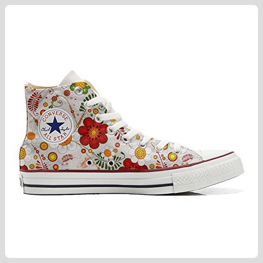 Converse All Star Slim Customized personalisierte Schuhe (Handwerk Schuhe) Colorful Paisley