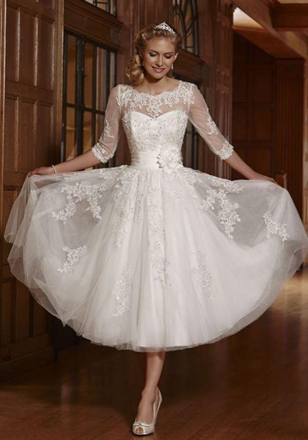 New White Ivory Short Lace Wedding Dress Bridal Gowns Size Uk 6 8 10 12 14 16 18 Ebay Knee Length Wedding Dress Short Wedding Dress Tea Length Wedding Dress Vintage