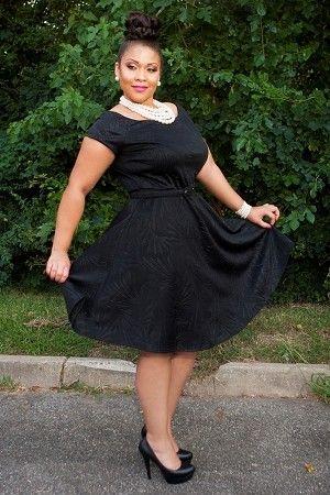 Black Dorothy Belted Dress