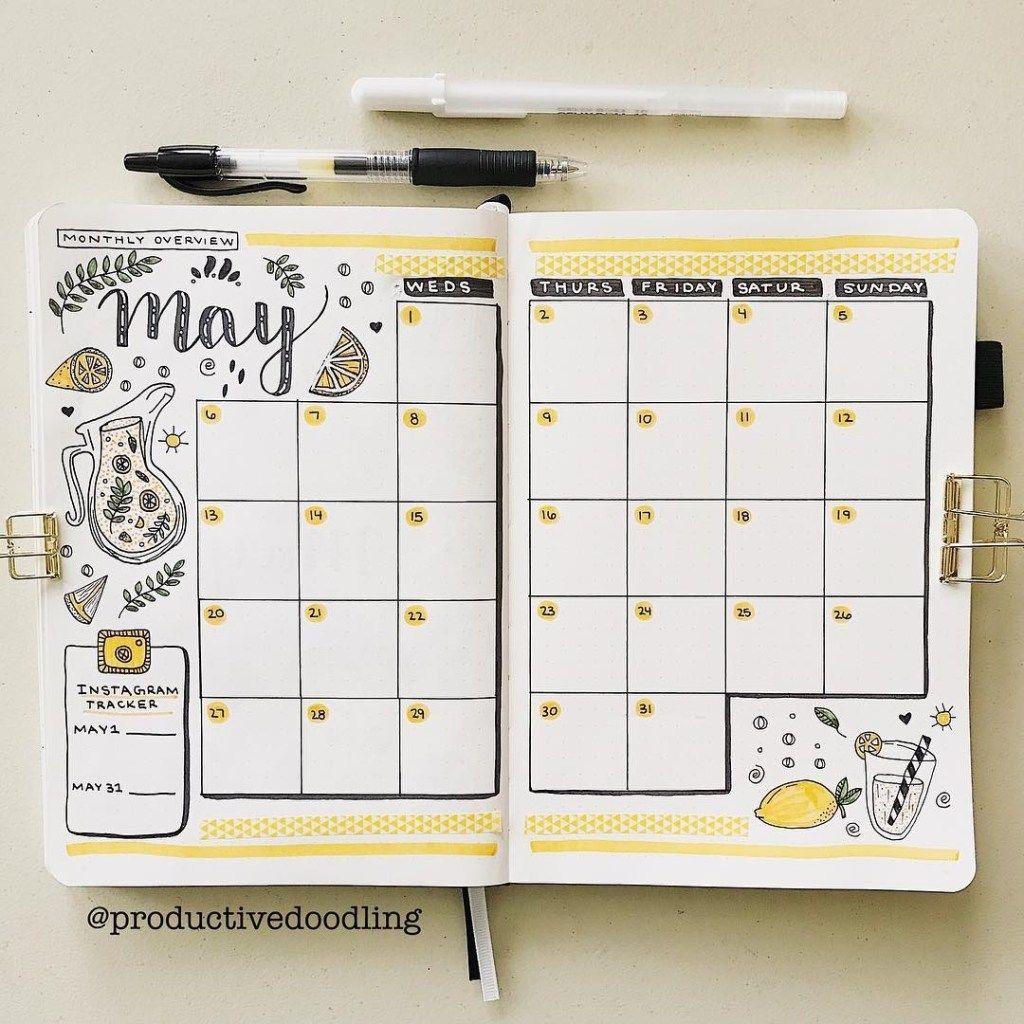 Bullet Journal Monthly Spread Ideas | Heraldeecreates