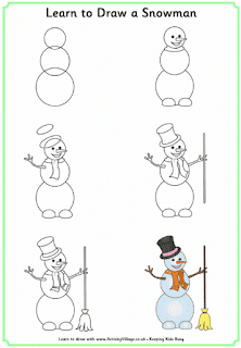 كيف ترسم رجل ثلج Winter Drawings Draw A Snowman Christmas Pictures To Draw