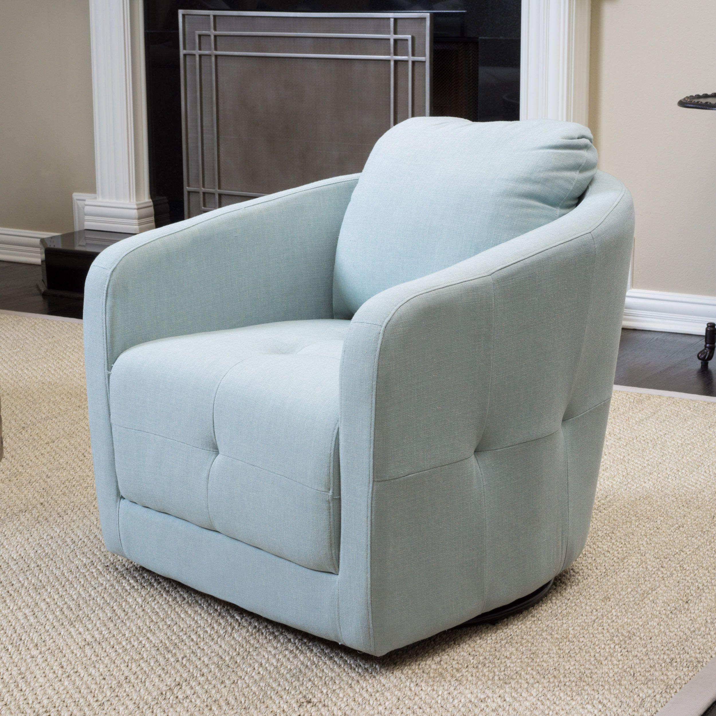 Christopher Knight Home Concordia Fabric Swivel Chair 楊