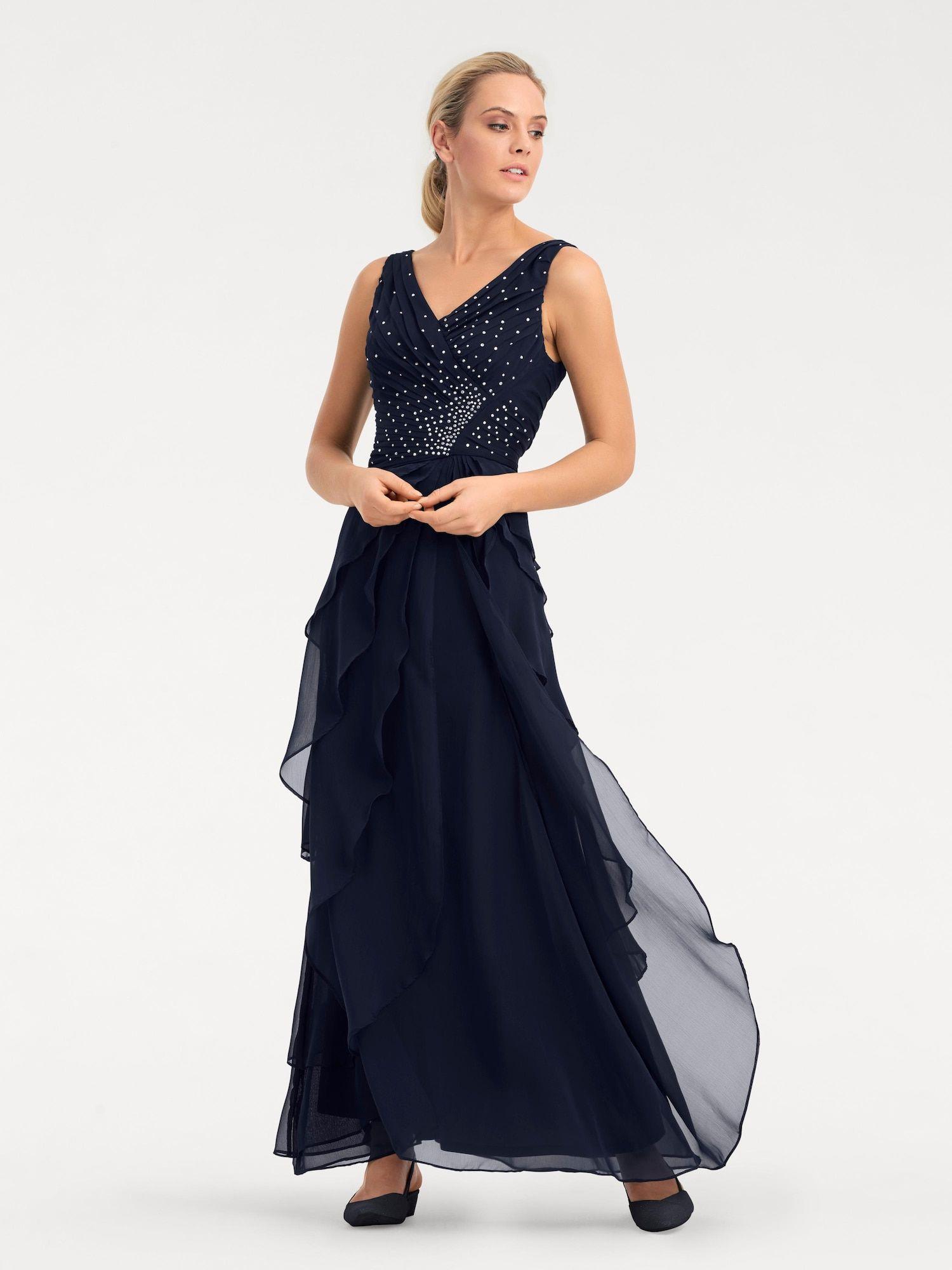 Heine Abendkleid Damen, Enzian, Größe 15  Abendkleid, Kleider und