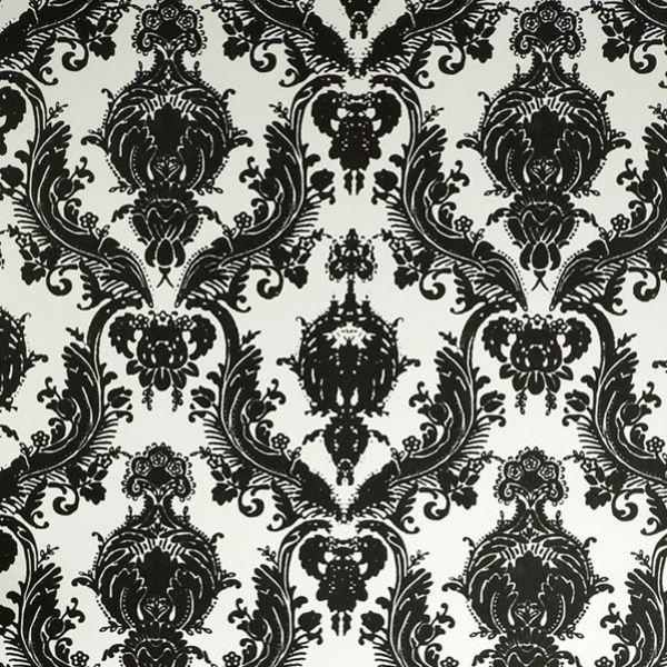 Black And White Wallpaper Tempaper Damsel Wallpaper Black And