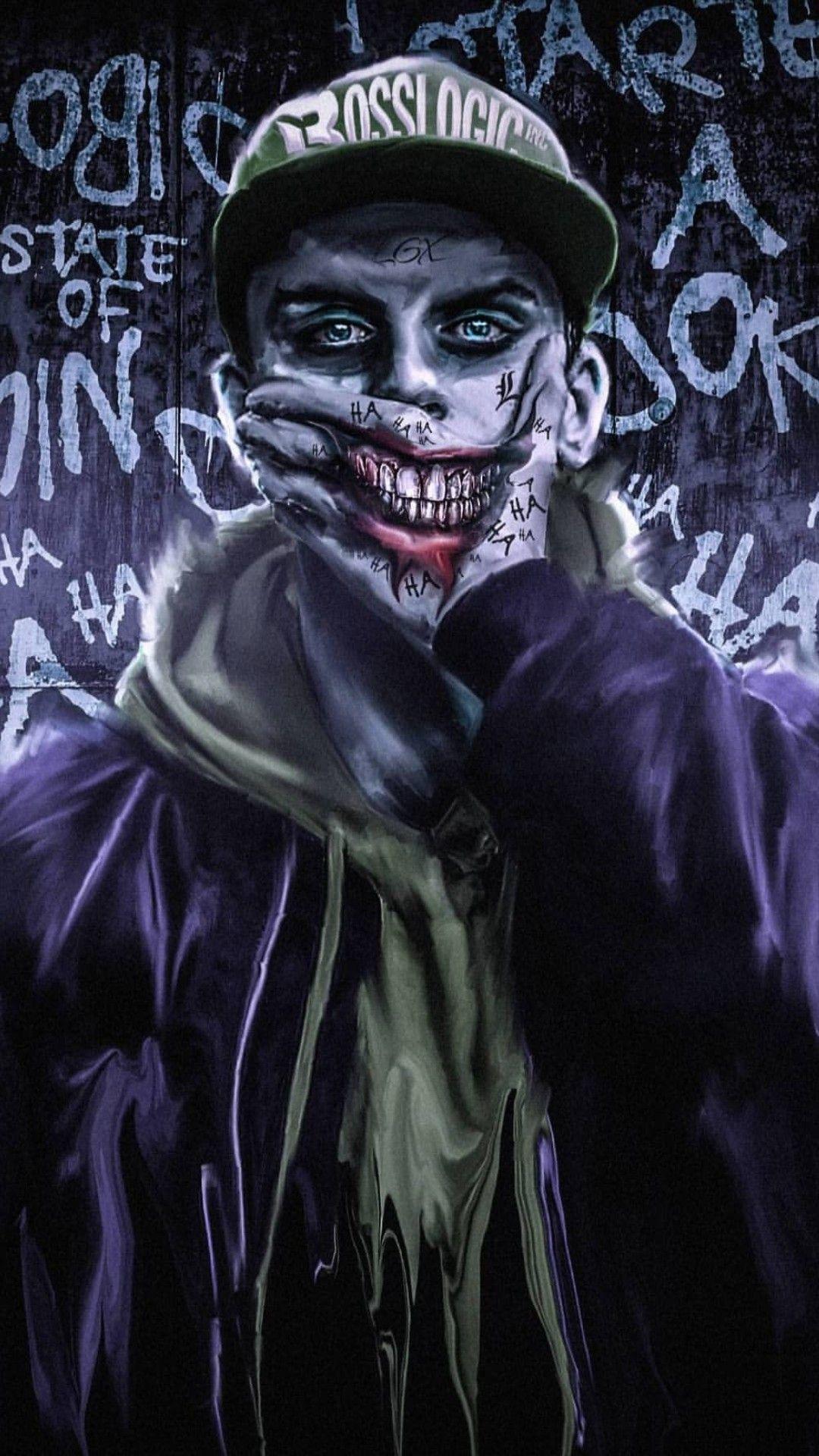 Joker iphone wallpaper image by sam sam on chồng Joker