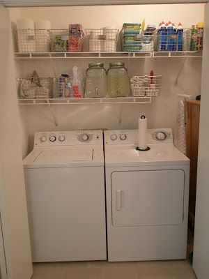 Wire Shelving Basket Combo Apartment Laundry Laundry Room