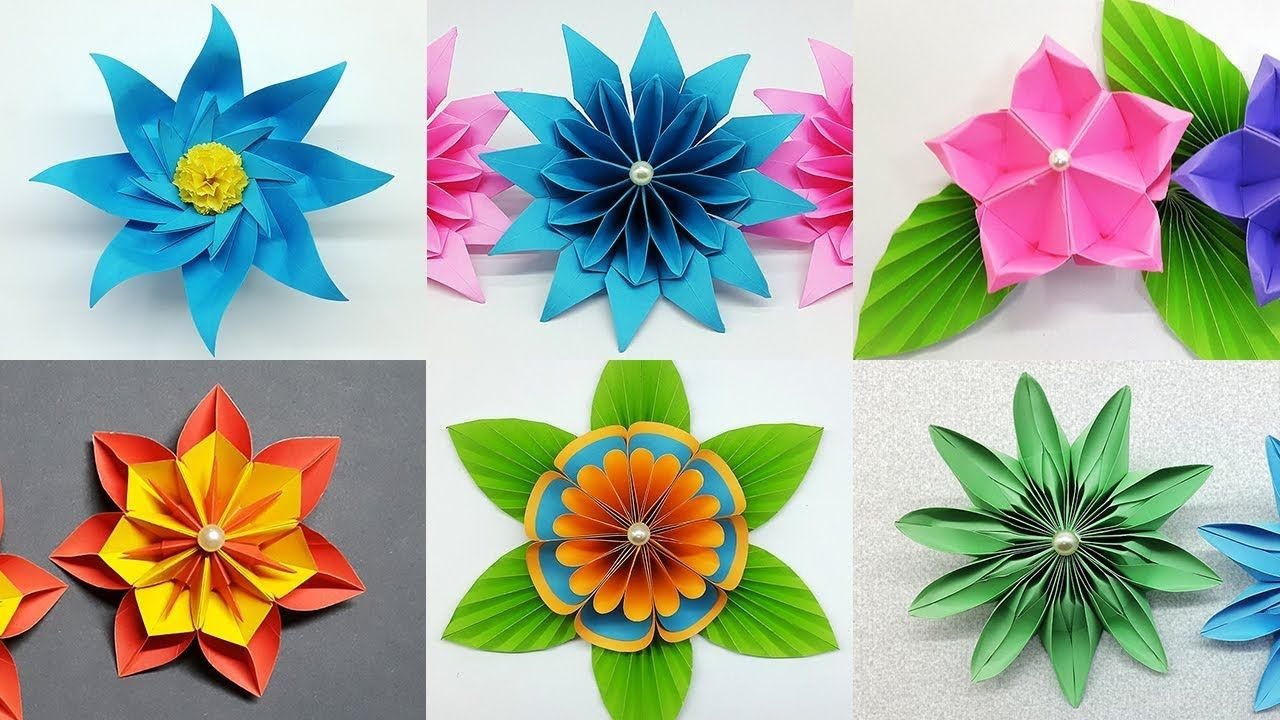 6 Easy Paper Flowers Making Tutorial Diy Flower Crafts It S A