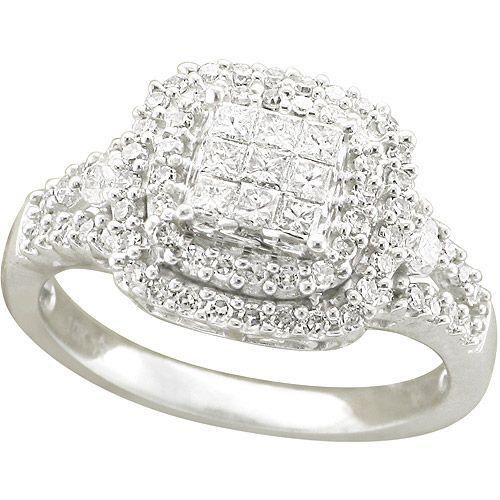 34 carat tw diamond cushion ring - Wedding Rings At Walmart