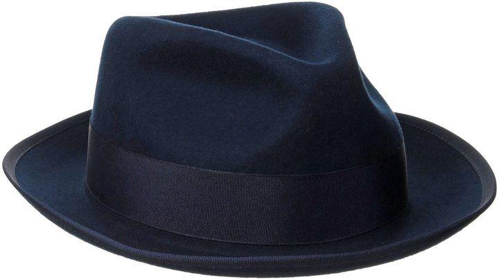 41aaf643266763 Original Penguin Men's Lamb Felt Fedora, Dress Blues, Large/X-Large ...