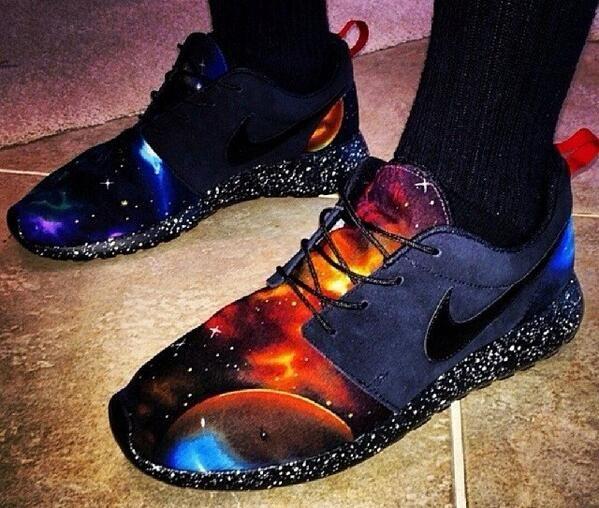 Nike Roshe Courir Ciel Galaxie Dark