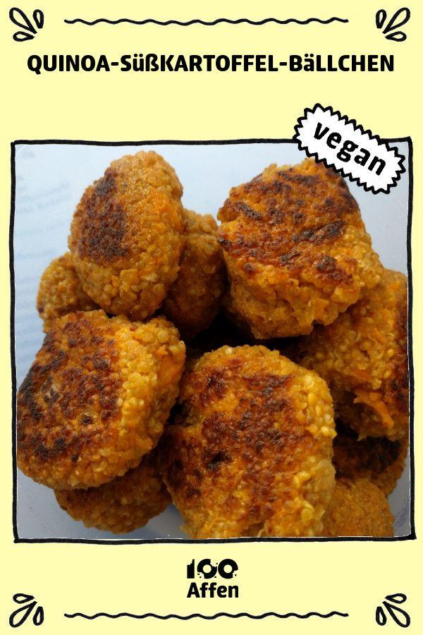 Photo of Quinoa sweet potato balls ► Vegan recipe at 100Monkeys.de