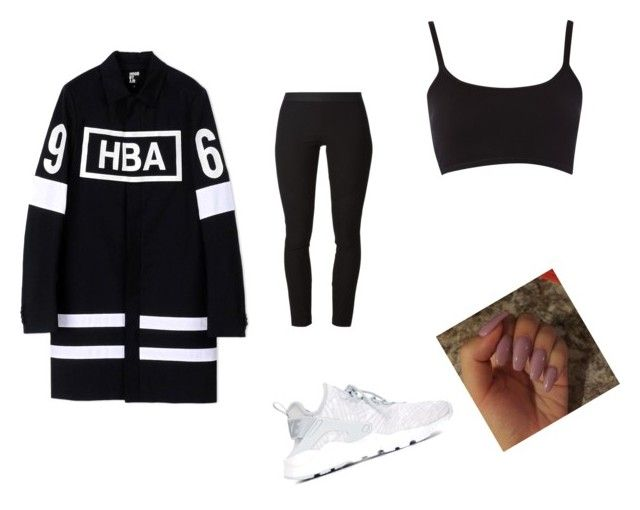 """""""Untitled #1900"""" by oreabe ❤ liked on Polyvore featuring Hood by Air, Helmut Lang and NIKE"""