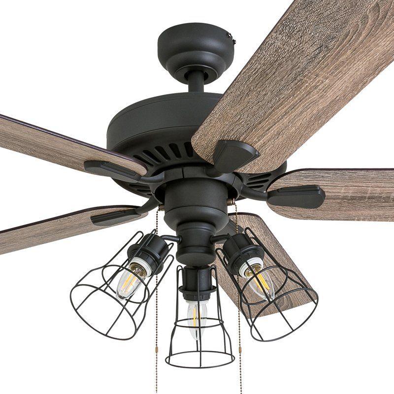 "52"" Socorro 5 Blade LED Ceiling Fan, Light Kit Included"