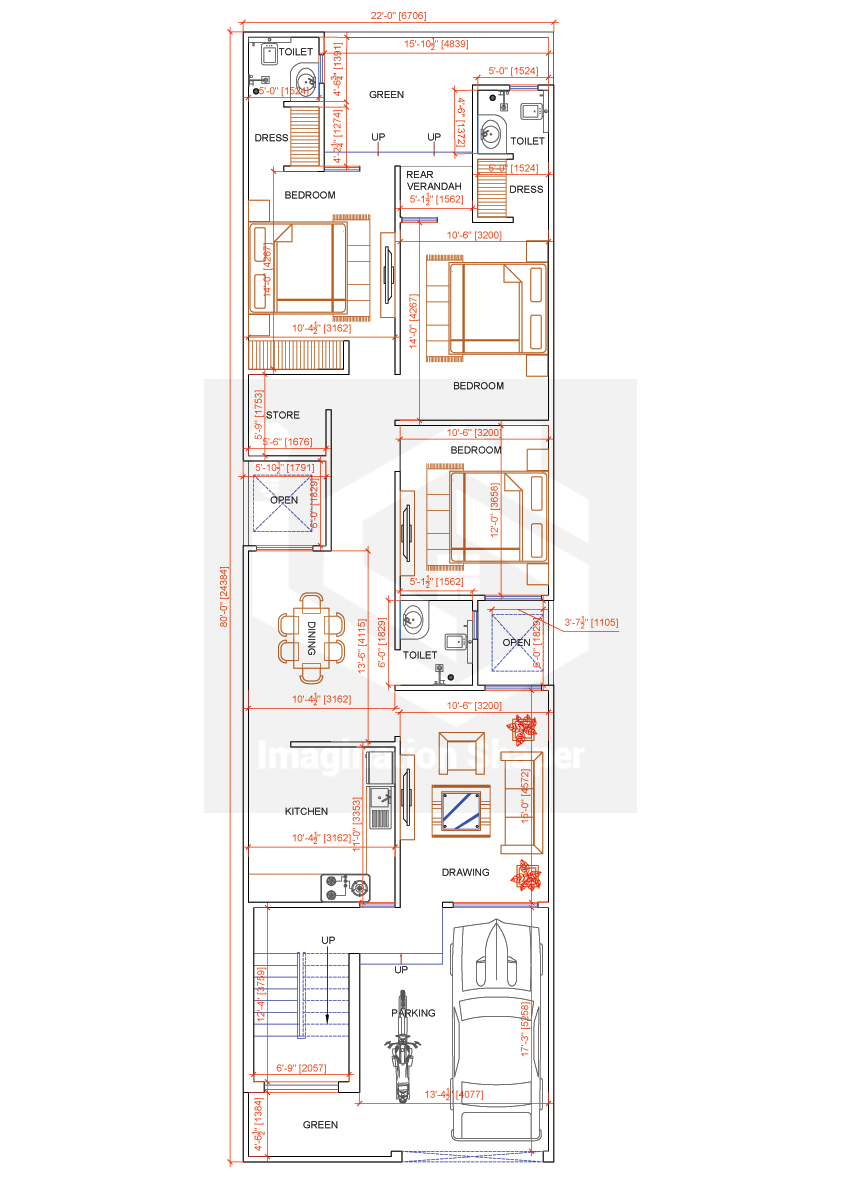 22x80 House Designs Plan House Construction Plan Model House Plan 20x40 House Plans