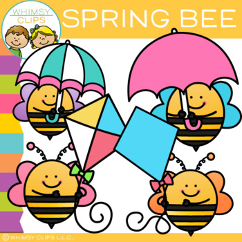 FREE Spring Bee Clip Art #clipartfreebies