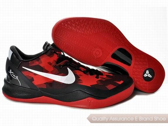 ba02671404cd Nike Zoom Kobe 8 VIII Life Black Red White Shoes.More nike kobe 9 shoes for  sale