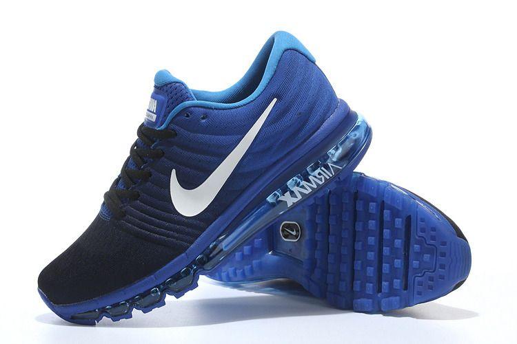 nike air max 2017 mens running shoes black dark blue