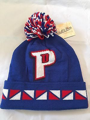 NBA Detroit Pistons Adult Winter Hat with Pom  31b4bad97ca