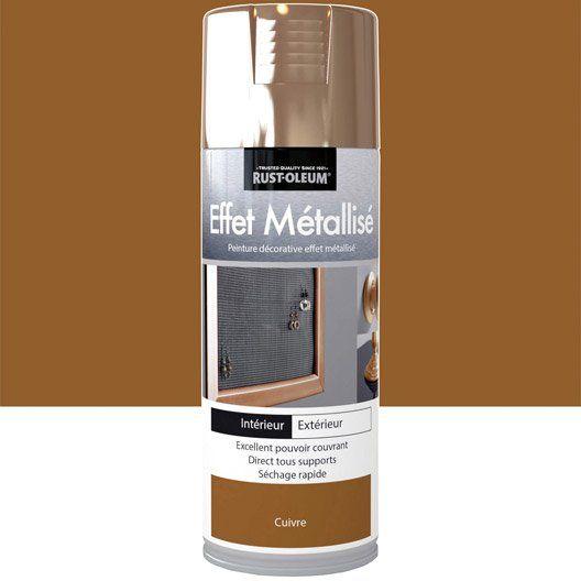 Peinture aérosol Effet metallisé métallisé RUSTOLEUM, cuivre, 04 l - bombe de peinture aluminium