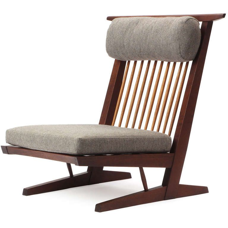 Conoid Lounge Chairs By George Nakashima