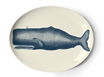 whale on a plate